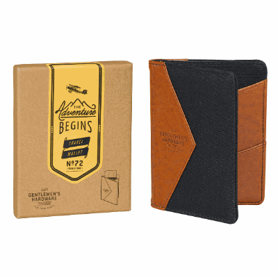 Gifts For Men Australia - Charcoal Canvas Travel Wallet - W&W