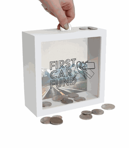 Gifts For Men Australia - First Car Fund Change Box - Splosh
