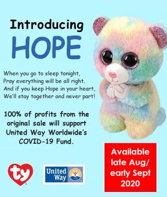 Beanie Boos Regular - Hope the Pastel Bear Charity Image