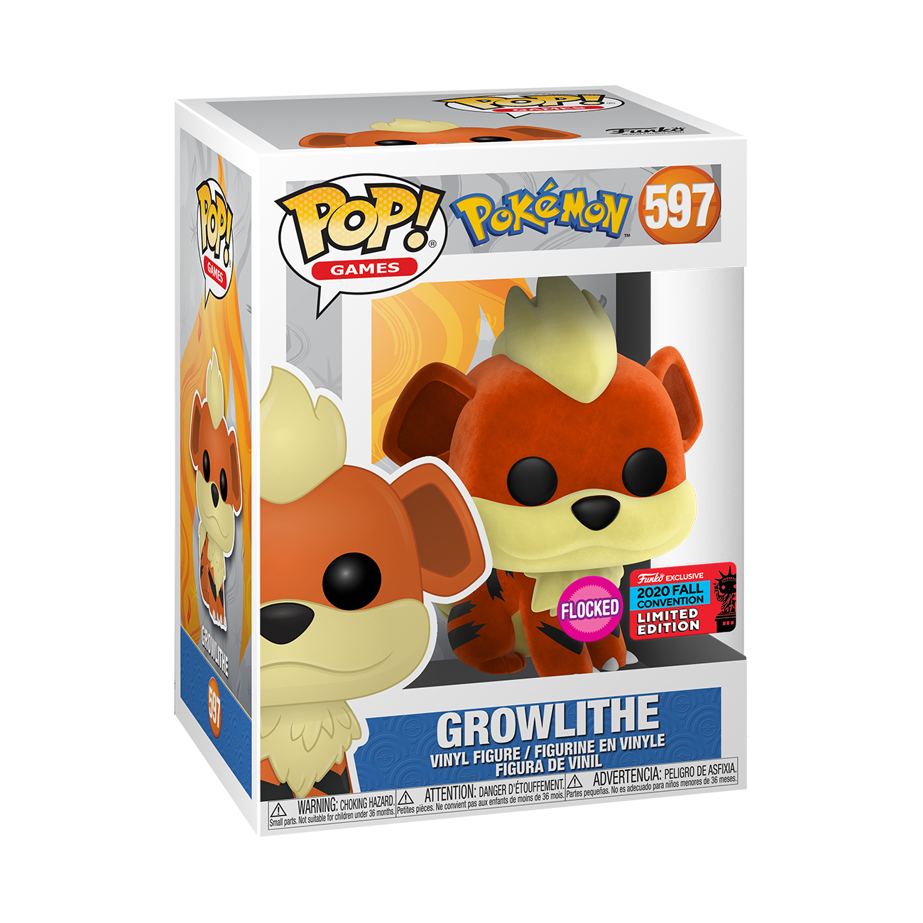 Pokemon - Growlithe FL Pop! Vinyl NYCC 2020 BOXED