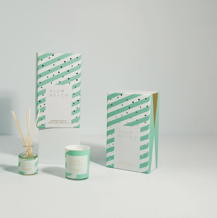 Mini Candle and Diffuser Gift Pack - Sparkling Grapefruit - Palm Beach Collection (Christmas 2020)