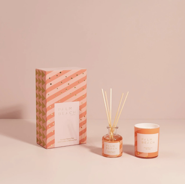 Mini Candle and Diffuser Gift Pack - Passion Flower Fizz - Palm Beach Collection (Christmas 2020)
