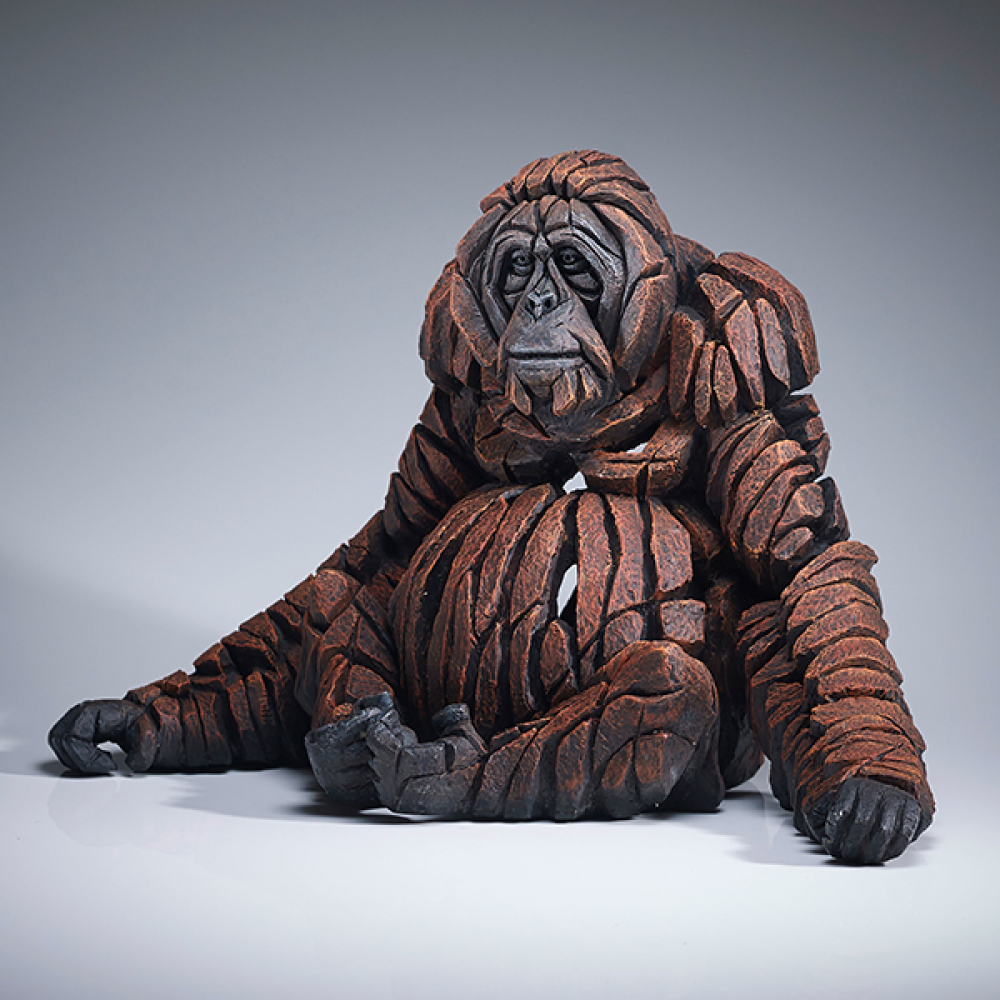 Mother Orangutan Figure - Jasnor Edge Sculpture