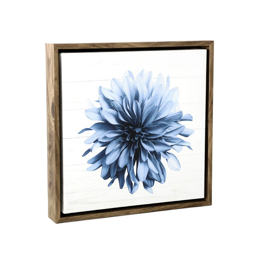 Sophisticated Hamptons Blossom Framed Canvas 34x34 - Splosh