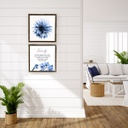 Sophisticated Hamptons 2 Framed Canvas 34x34 - Splosh (Decor)