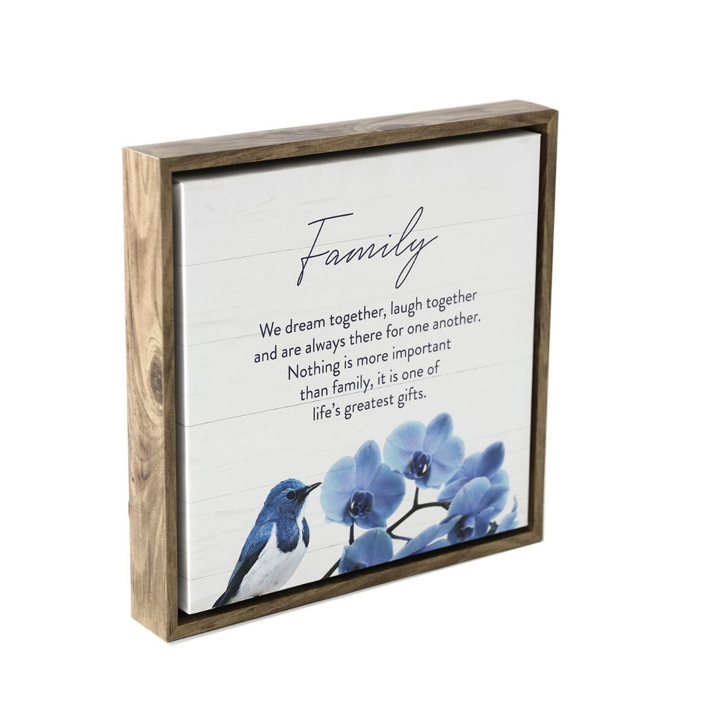 Sophisticated Hamptons Bird Framed Canvas 34x34 - Splosh
