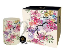 Bug Art - Floral Mugs (Cherry Blossoms)