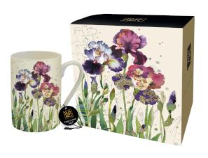 Bug Art - Floral Mugs (Iris)