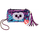 [95148] Ty Fashion -  Moonlight the Owl Sequin Square Purse