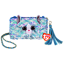 [95151] Ty Fashion -  Whimsy the Cat Sequin Square Purse