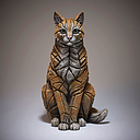 [EE6008140] Ginger Cat Figure - Jasnor Edge Sculpture