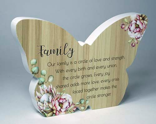 Bunch Of Joy Butterfly Plaque - Family