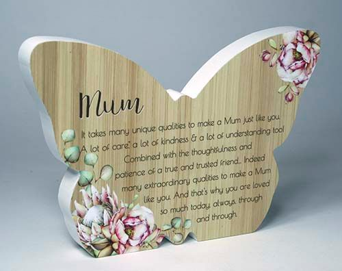 Bunch Of Joy Butterfly Plaque - Mum