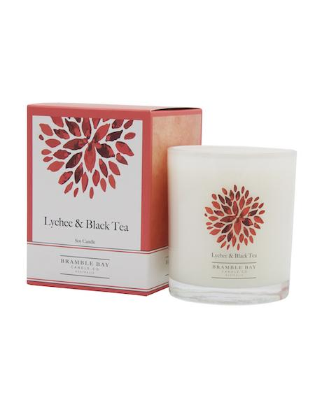 Bramble Bay Co - Lychee & Black Tea 270g Soy Wax Candle