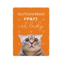 [PET023] Playful Pets Cat Lady Ceramic Magnet - Splosh