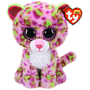[36476] Beanie Boos Medium - Lainey the Pink Leopard