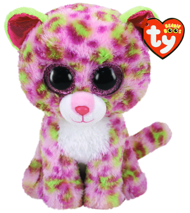 Beanie Boo Regular - Lainey the Pink Leopard