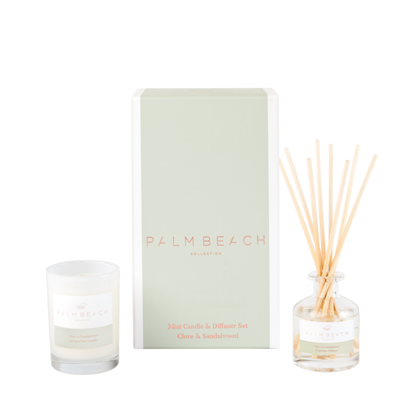 Mini Candle & Diffuser Pack - Clove & Sandalwood - Palm Beach Collection