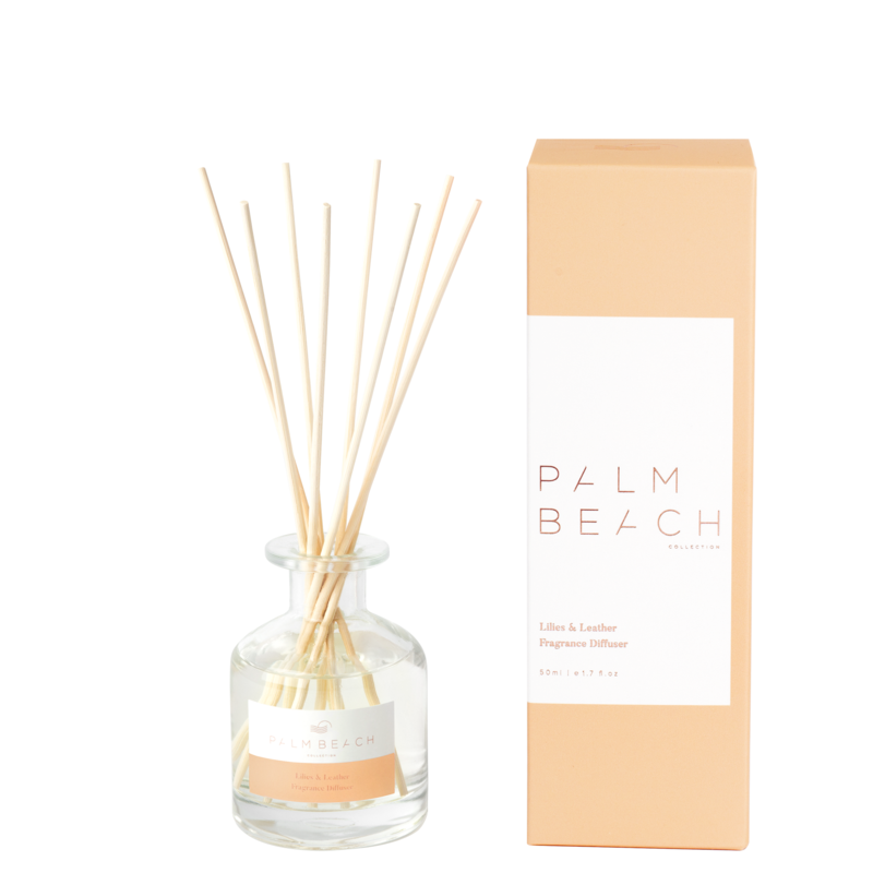 Mini Reed Diffuser - Lilies & Leather - Palm Beach Collection