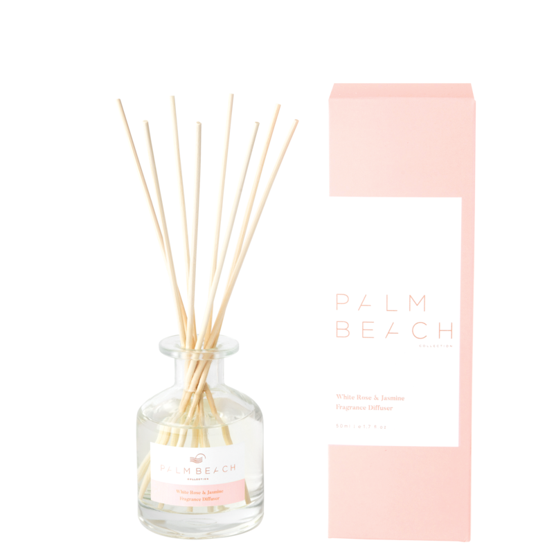 Mini Reed Diffuser - White Rose & Jasmine - Palm Beach Collection