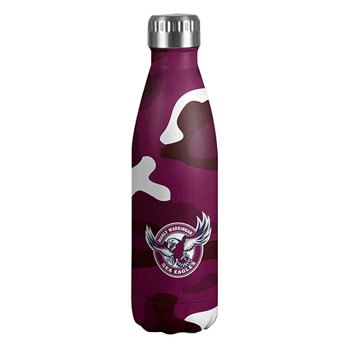 [NRL195BE] NRL  Manly Sea Eagles Stainless Steel Wrap Bottle