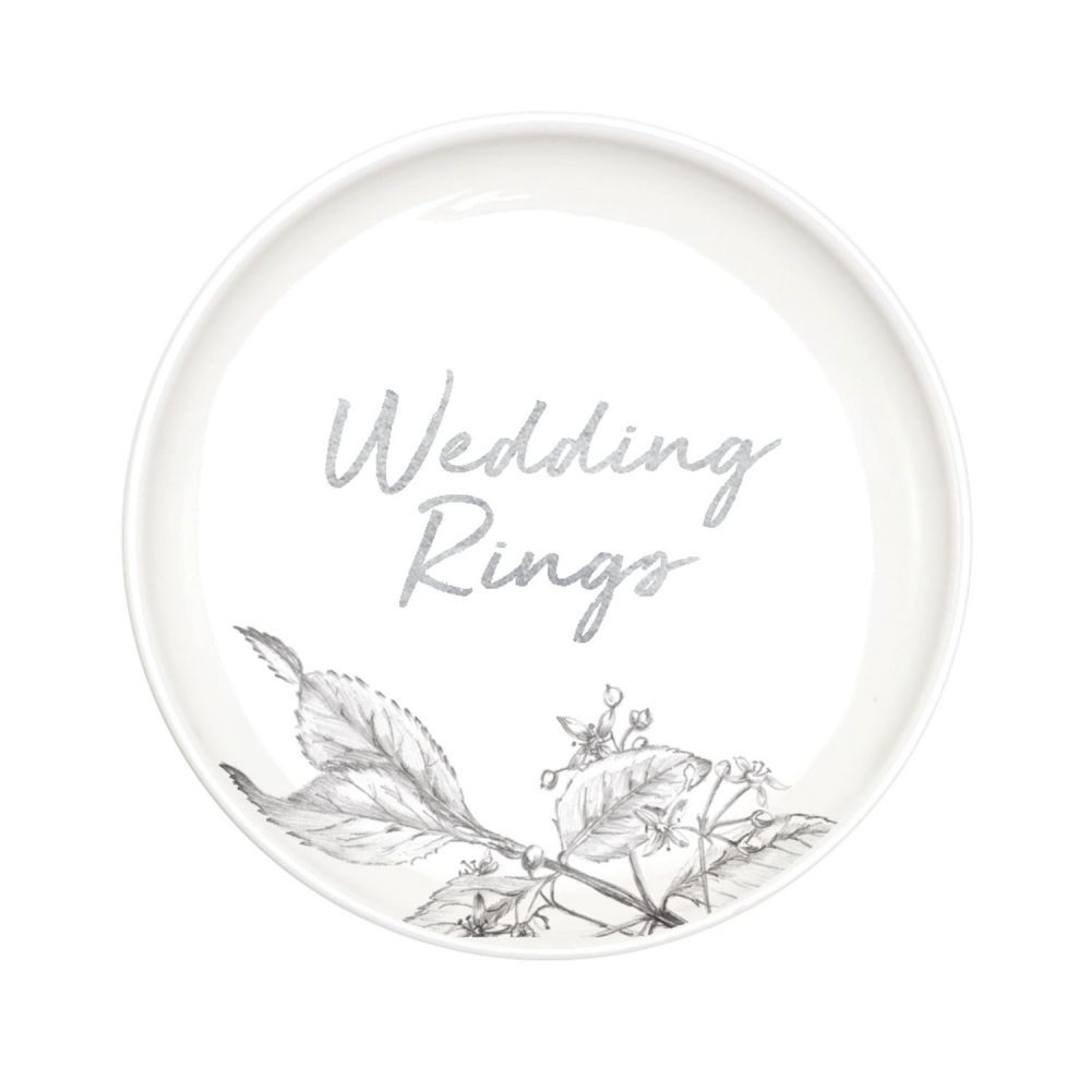 [WEDD029] Wedding Rings Trinket Plate - Splosh