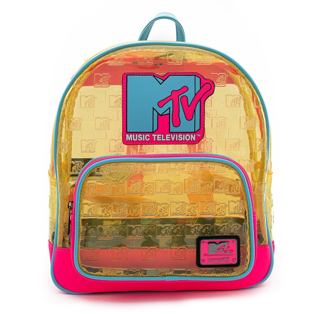 [LOUMTVBK0001] MTV - Clear Neon Mini Backpack - Loungefly