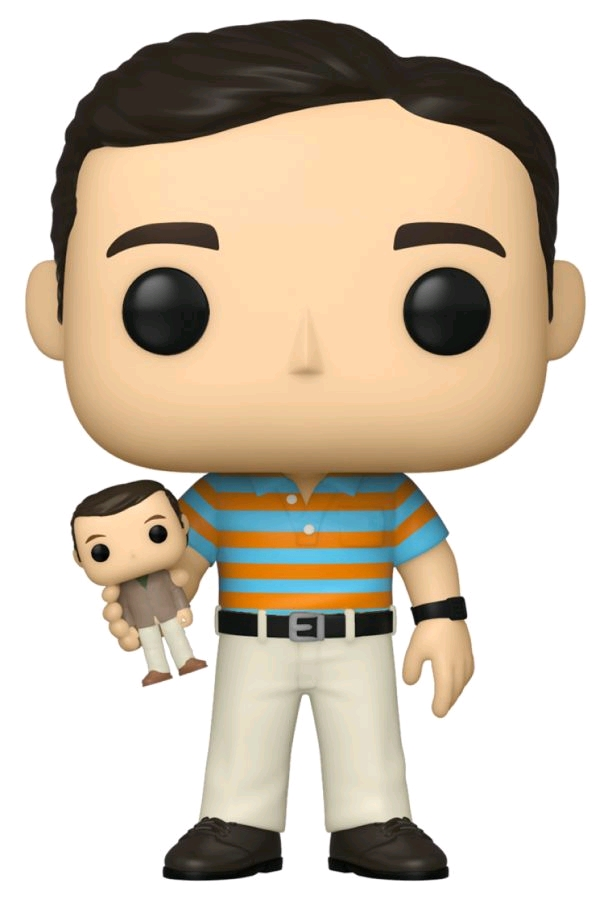 [FUN54469] 40 Year Old Virgin - Andy with Oscar Goldman Doll Pop! Vinyl (with Chase variant)