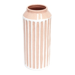 [FLS033B] Flourish Peach Stripe Large Vase - Splosh