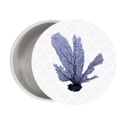 [SHM011D] Sophisticated Hamptons Medium Round Trinket Box - Splosh