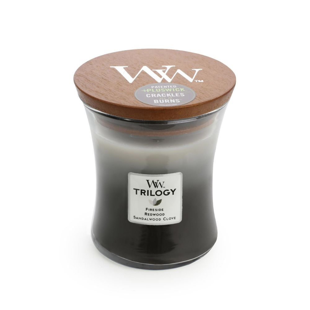 [WW92911] Warm Woods Trilogy Medium - WoodWick Candle