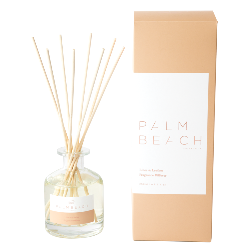 [RDXLLW] Reed Diffuser - Lilies & Leather - Palm Beach Collection