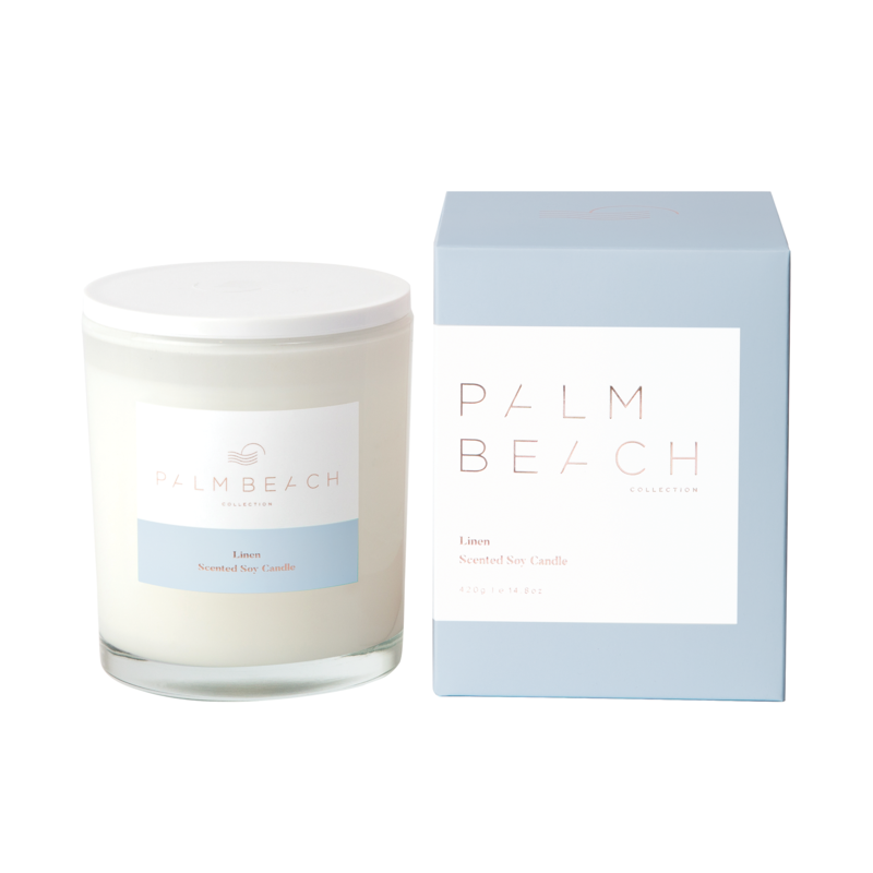 [MCXLW] Standard Candle - Linen - Palm Beach Collection