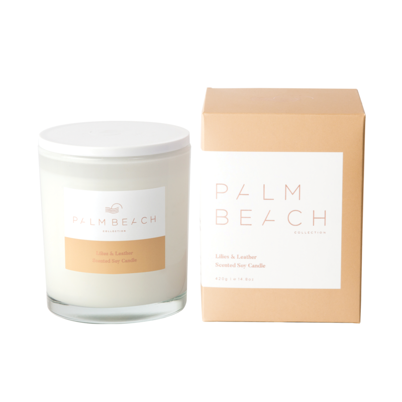 [MCXLLW] Standard Candle - Lilies & Leather - Palm Beach Collection