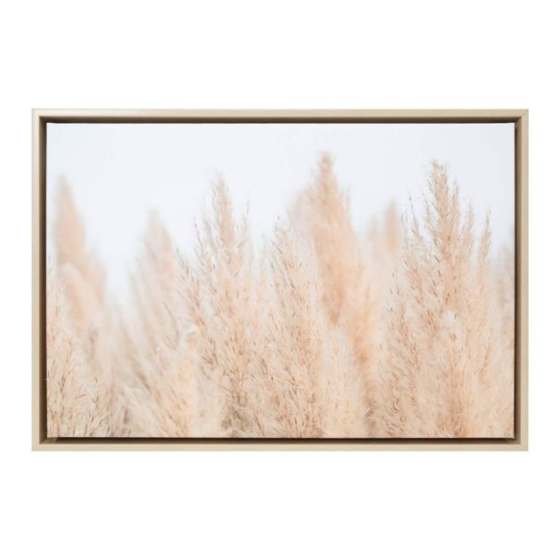 [NTO017C] Natural Oasis Pampas Framed Canvas 64x44 - Splosh